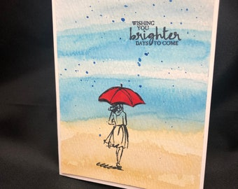 Handmade Greeting Card:  Encouragement in tough times