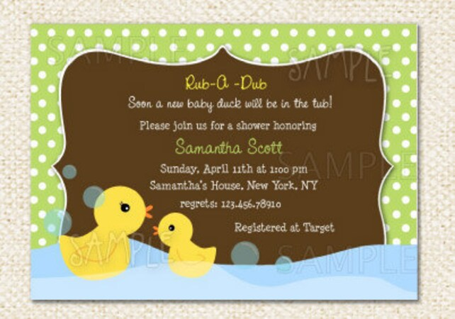 Rubber Duck Baby Shower invitations   Etsy