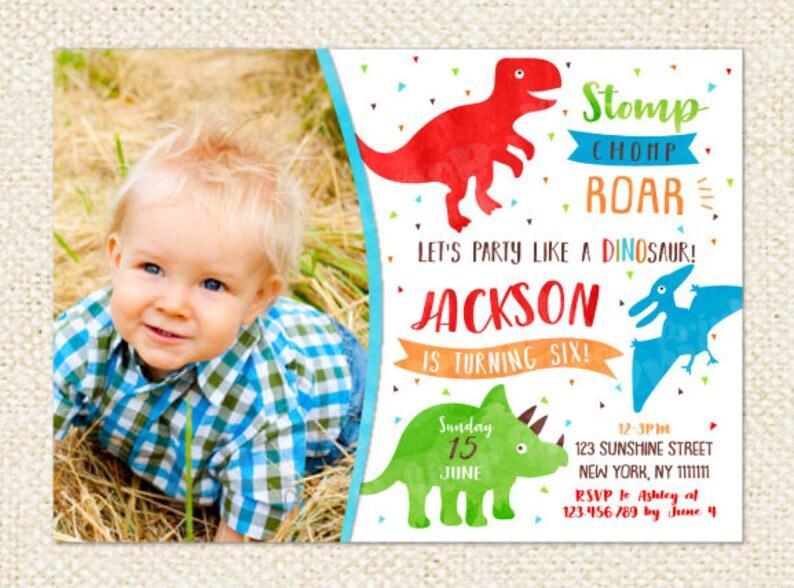 Dinosaur Invitations Birthday