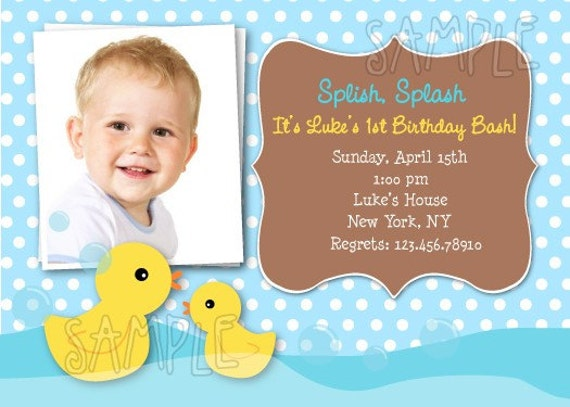 Rubber Duck Birthday Invitations | Etsy