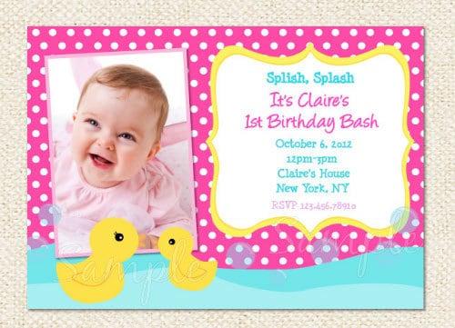 Rubber Duck Birthday Invitations Duck Birthday Party Invitation Duck Invites Diy Printable