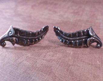 Vintage Los Castillo Fern Earrings