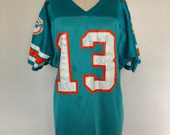Vintage Miami Dolphins Dan Marino  13 Wilson Football Jersey - Athletic  Sportswear Memorabilia 61d05f270