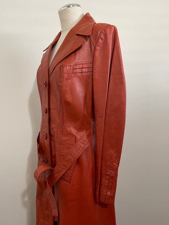 Vintage 1970's Ms. Pioneer Genuine Leather Orange… - image 2