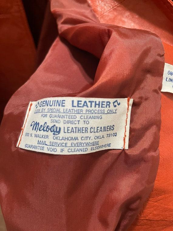 Vintage 1970's Ms. Pioneer Genuine Leather Orange… - image 10