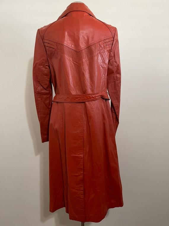 Vintage 1970's Ms. Pioneer Genuine Leather Orange… - image 6