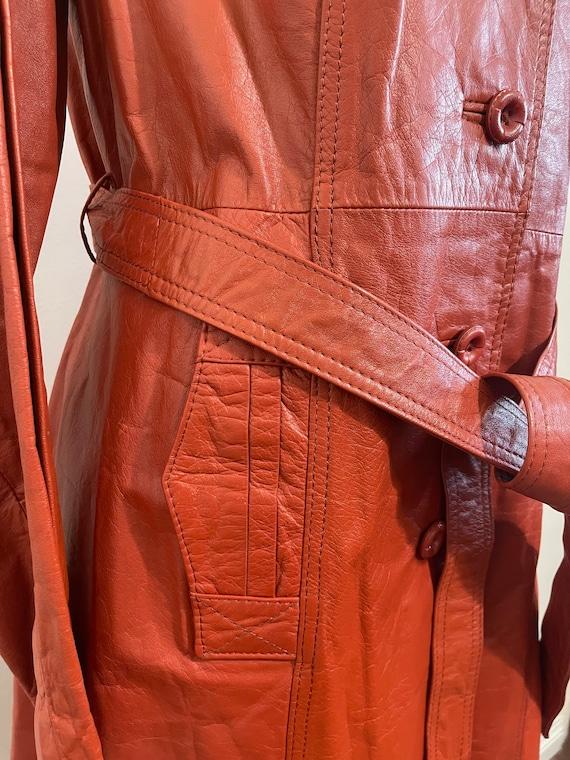 Vintage 1970's Ms. Pioneer Genuine Leather Orange… - image 5