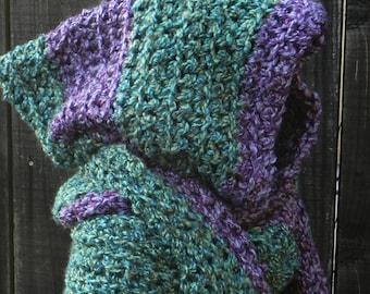 Easy Crochet Pattern, Convertible, Hooded Scarf, Wrap, Shawl, Hoodie, Scoodie, crochet best sellers