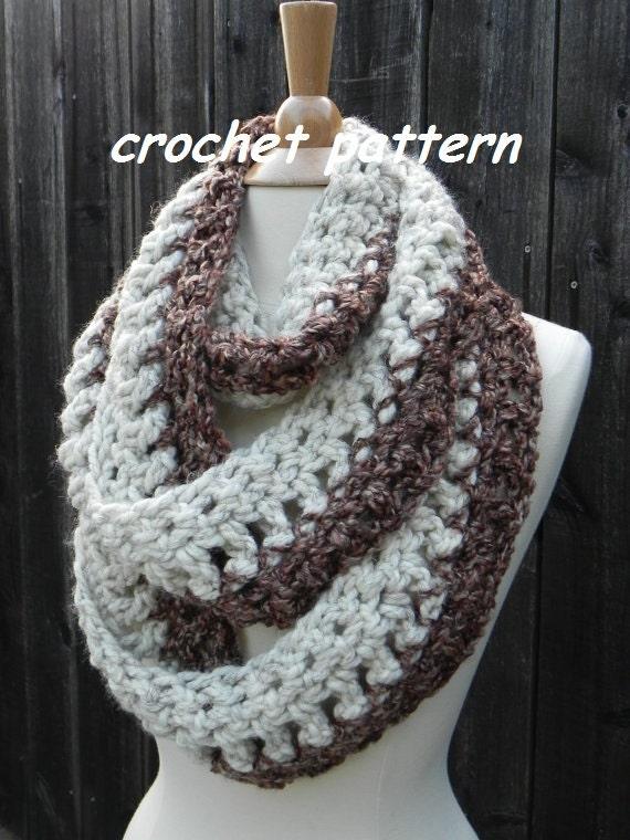 Crochet Pattern Infinity Scarf Reversible Cowl Neckwarmer Etsy