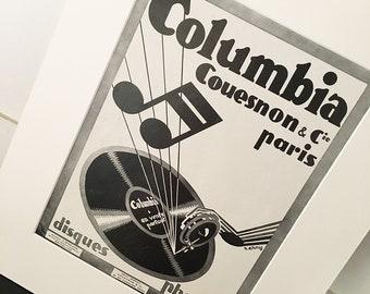 Vintage Music Poster | Vintage Print | Retro Poster | Advertising Art | Wall Art | Wall Decor | Vintage Magazine Advertising | Gift for him