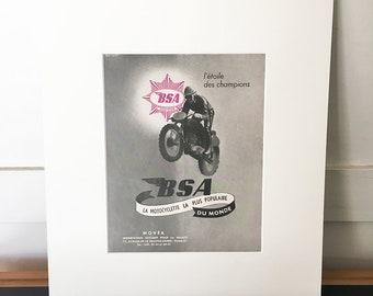 Vintage Motorcycle Poster | Vintage Print | Retro Poster | Retro Art | Wall Art | Wall Decor | Vintage Magazine Advert | Gift for him | Grey