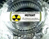 MUTANT Lip Balm, Lemon Lime Flavor, Toxic Waste Essential Oil Horror Gift Stocking Stuffer, Natural Bee Balm, Jojoba Oil Mango Butter