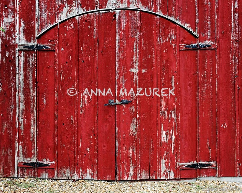 11 X 14 Red Barn Door Photograph Fine Art Photography Etsy