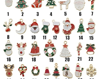 10pcs/Lot MIX Enamel Christmas charms alloy and enamel christmascharms Santa Charms Pendant DiY Jewelry Necklace Bracelet Pendants Accessory