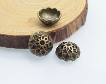 20pcs 6x14mm Antique Bronze  Bead Acorn Caps In Side 12-14mm c8421