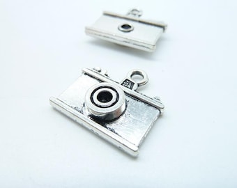 10pcs 21x23mm Antique Silver 3D  Camera  Pendant C5786