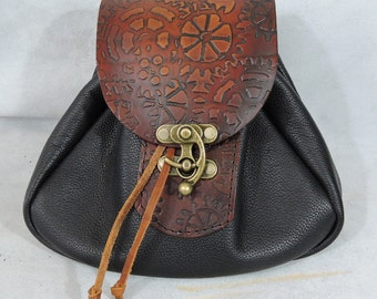 Customizable Large Sporran Design Leather Belt Bag / Pouch Medieval, Bushcraft, LARP, SCA, Costume, Ren Faire