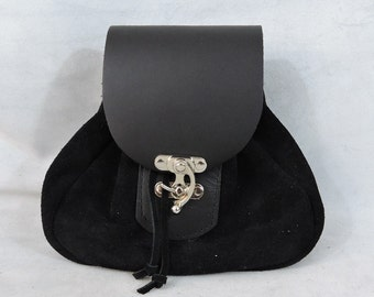 Customizable Large Tier 1 Economy Sporran Design Leather Belt Bag / Pouch Medieval, Bushcraft, LARP, SCA, Costume, Ren Faire