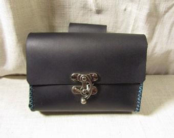 Customizable Hand Stitched Medium Economy Leather Belt Bag / Pouch Medieval, Bushcraft, LARP, SCA, Costume, Ren Faire
