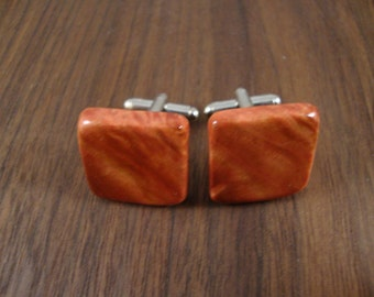 Men's Wooden Cuff Links - Pink Ivory Wood - Wedding, anniversary, any Special Occasion