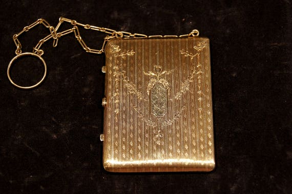 Tiffany & Company Victorian 14K Gold Compact Chate