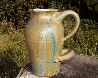 Orcas Island Pottery Large Handled Pitcher