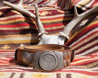 Southwest Native American Morgan Dollar Concho Belt