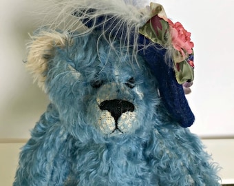 Ophelia Jointed Mohair Bear with Hat