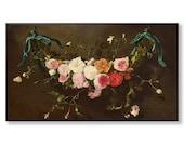Samsung Frame art, The Frame TV download, Floral painting, Floral vintage artwork, Maximalist decor, Dark floral print, Feminine wall art
