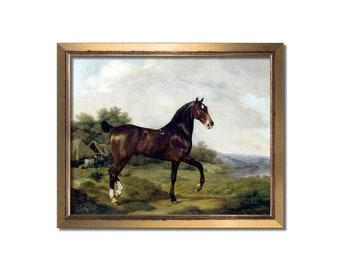 Horse art, Horse print, Horse painting, Horse gift, Vintage horse print, Antique England, Equestrian gift, Equestrian decor, Horse dressage