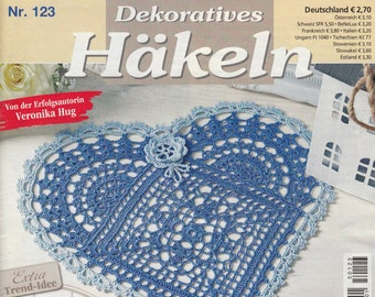 Magazine Dekoratives Hakeln 2015_123 journal crochet pattern for filet lace table cloth vintage runner of any kind pillow case