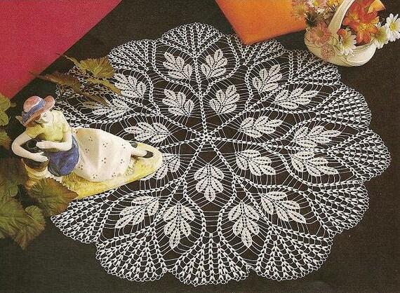 Muster der Runde Kreis Filet häkeln Baumwolle Spitze weiß | Etsy