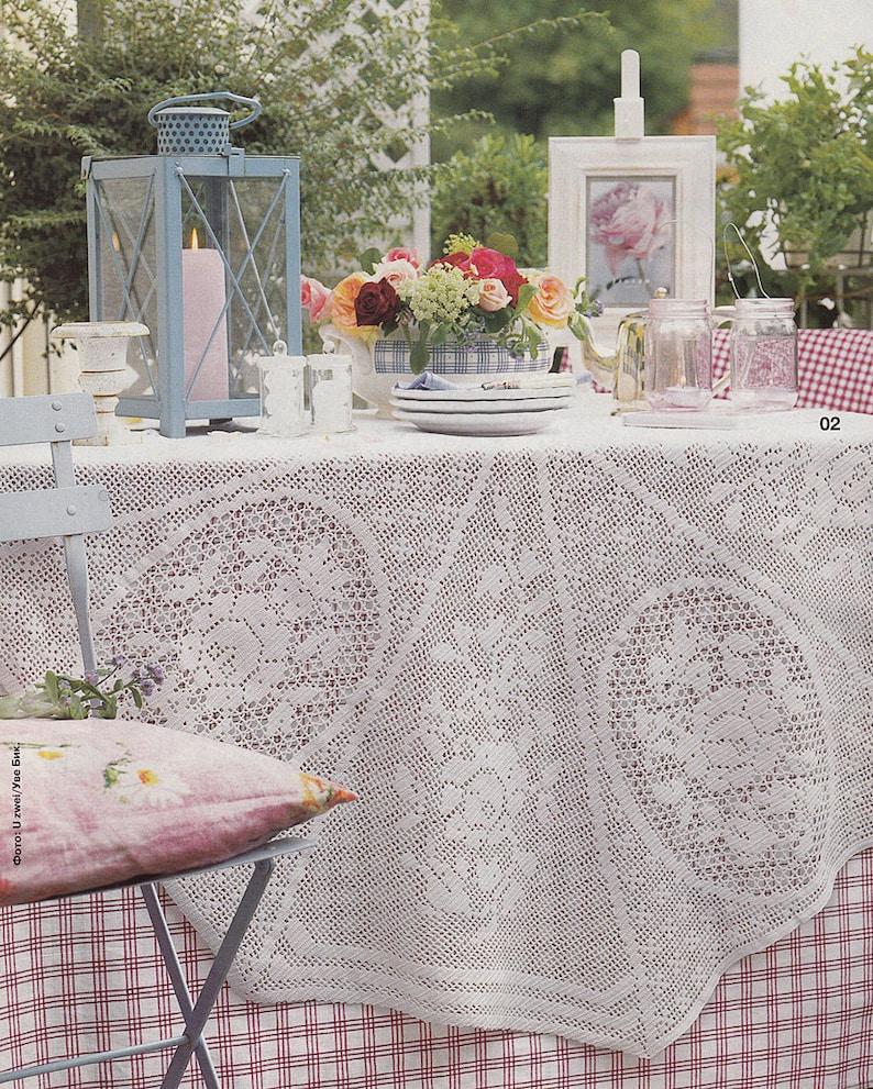 Pattern Of Burda Special E65902 Round Filet Crochet Lace Etsy