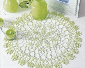 Pattern of Filethakeln leicht gemacht 3_2015-27 floral filet crochet lace cotton table cloth runner vintage retro flower star