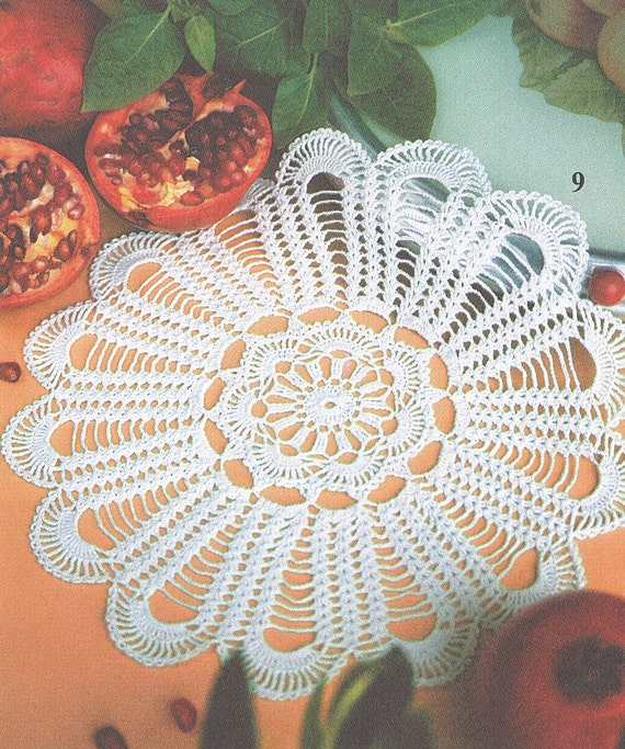 Patrón de Valentina 152-9 redondo encaje filet crochet algodón | Etsy