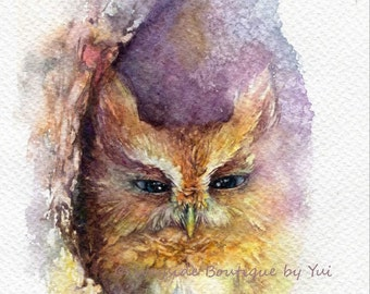 PRINT – To be calm - Watercolor painting 7.5 x 11""