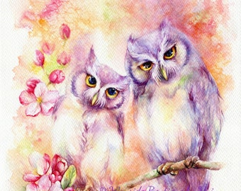 Love is in bloom - ORIGINAL watercolor painting 15x22 inches
