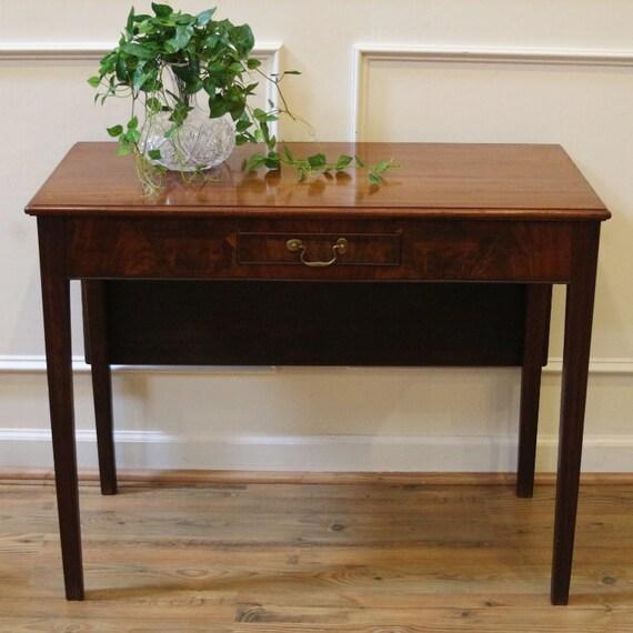 Antique Console Table Mahogany Drop Leaf Table Desk Etsy
