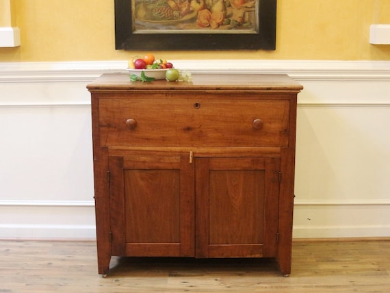 image 0 - Antique Cherry Server Jelly Cupboard Pantry Hand Made. Etsy
