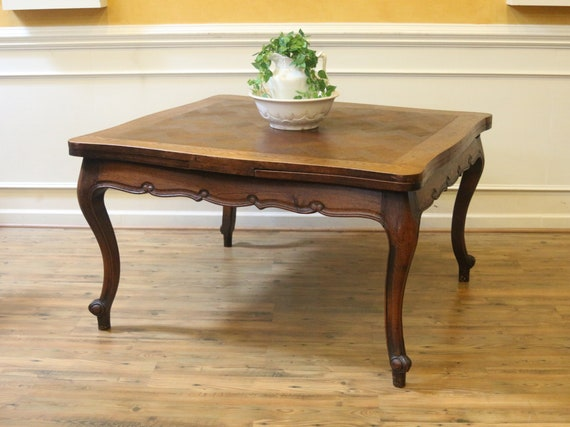Antique Oak French Country Dining Table Draw Leaf Extending Etsy