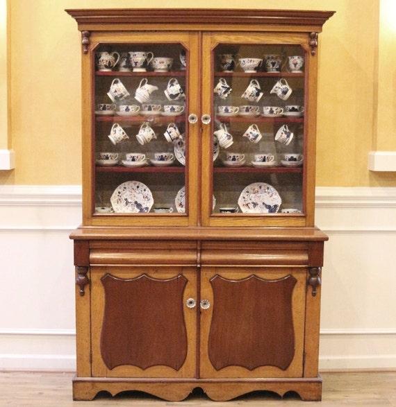Antique China Cabinet Mahogany Amp Oak Welsh Dresser Hutch