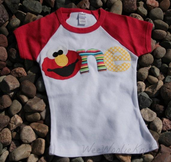 Elmo Inspired 1st Birthday Shirt 2nd Sesame