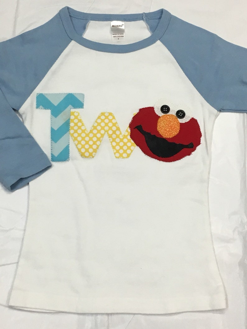 Elmo 2nd Birthday T Shirt READY To SHIP Size 2T Sesame