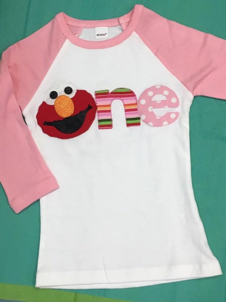 Elmo Birthday T Shirt Personalized 1st 2nd