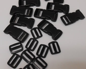 1 inch Side Release Buckle and Tri-glide - 10 pack