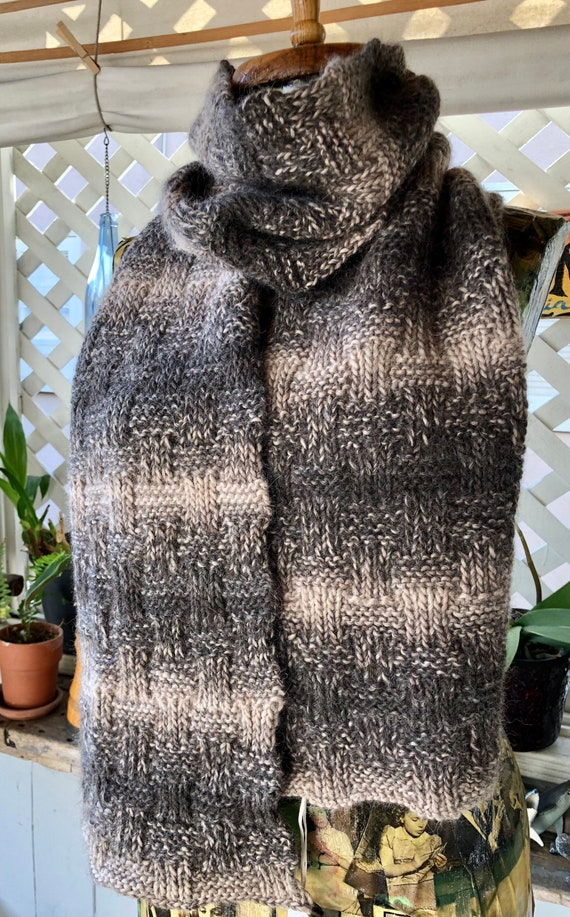 F. Absolutely Amazing Alpaca Basketweave Scarf
