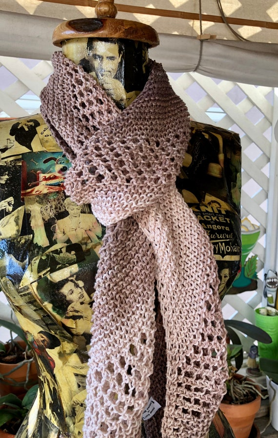 M. Lovely Ombré Bias Knit Cotton Scarf