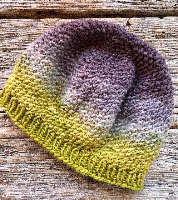 726 Adorable Textured Handpainted Wool Beanie