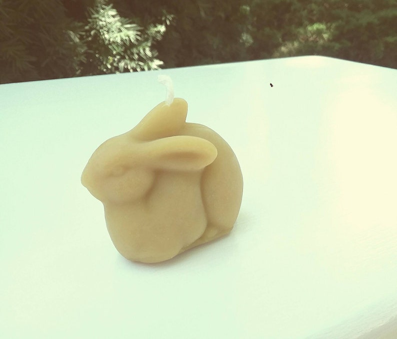 Beeswax Bunny Votive Candle