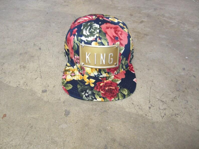 a3bbb5209db991 ROJAS floral roses metal snapback hat floral rose snap back   Etsy